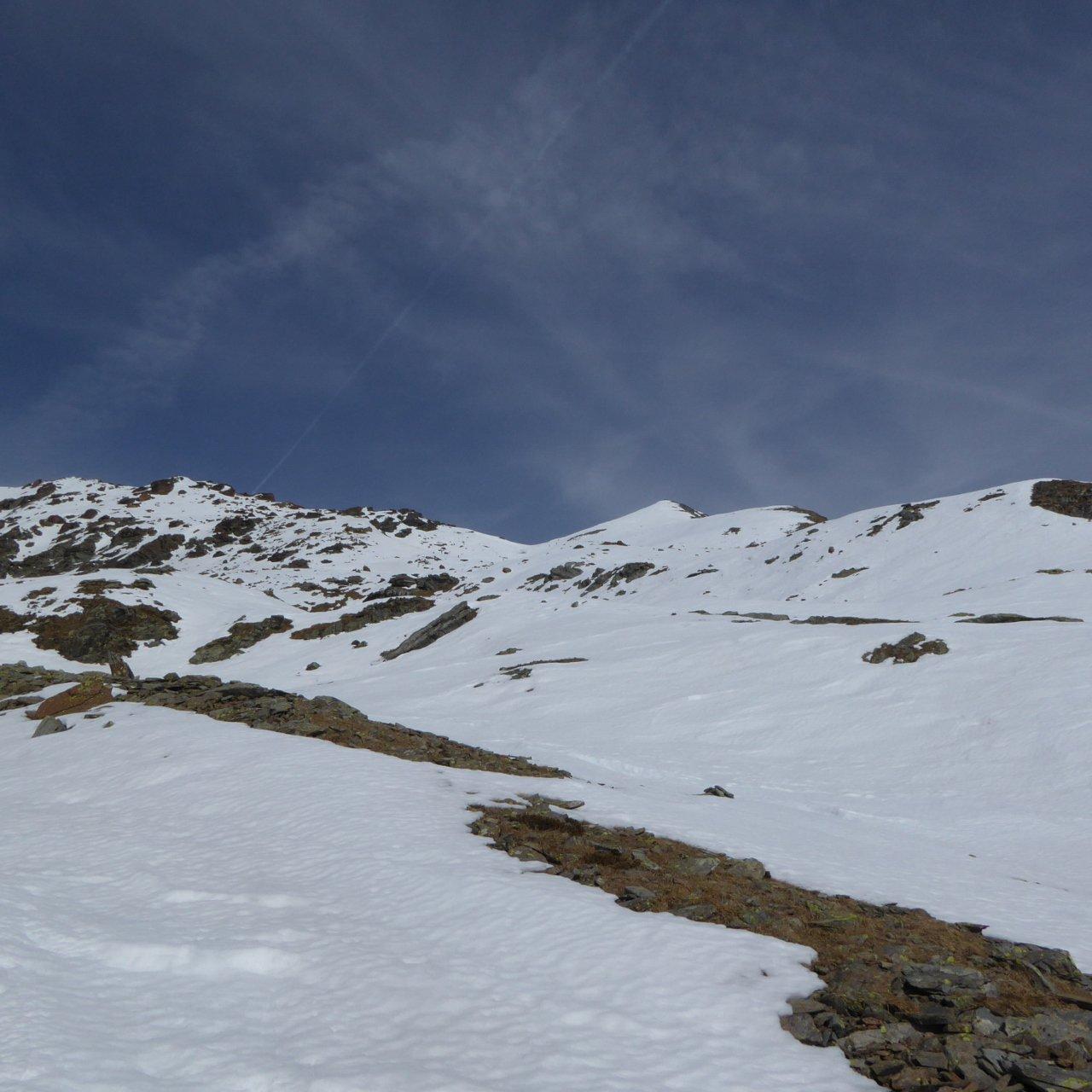 parte superiore della salita, comune con il percorso 1