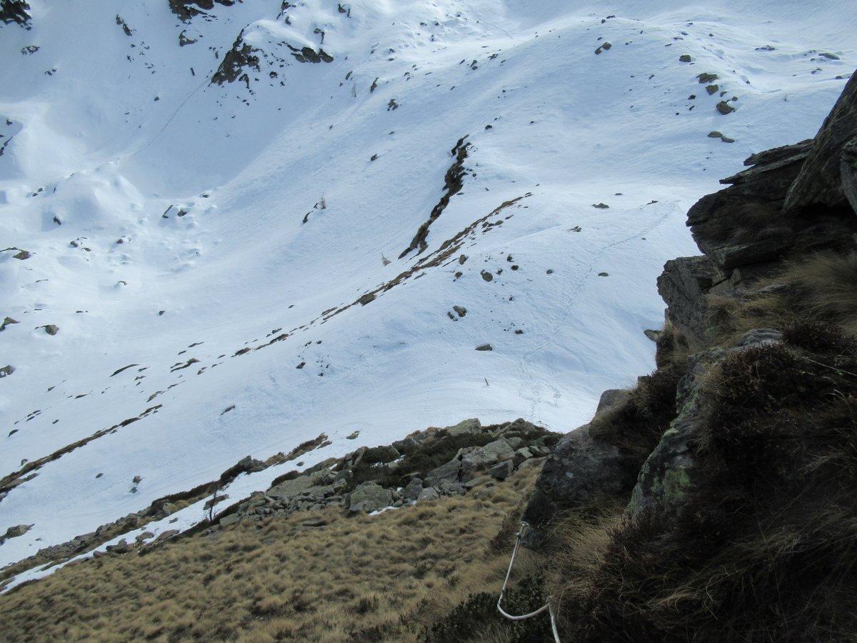 La Bocchetta dei Fornei vista salendo alla Scalaccia
