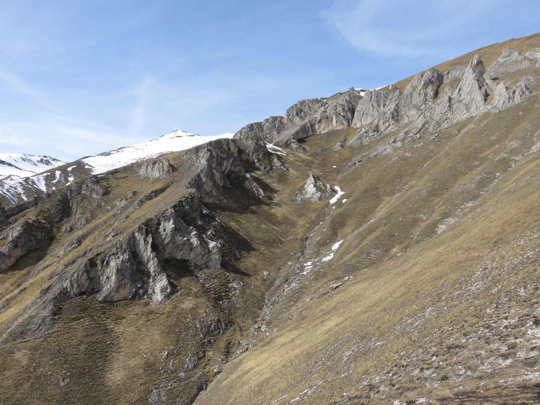 Ripidi pendii sottostanti il Bric Tioure (a sx)