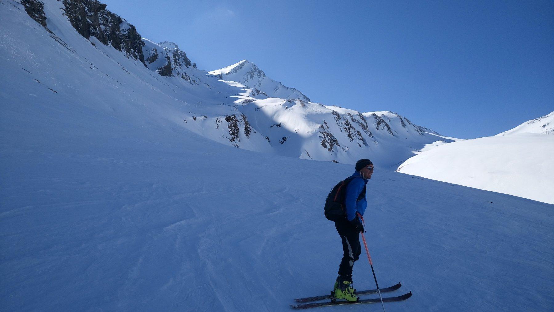 Fulvio a sinistra al sole la nostra cima Gletscherhorn
