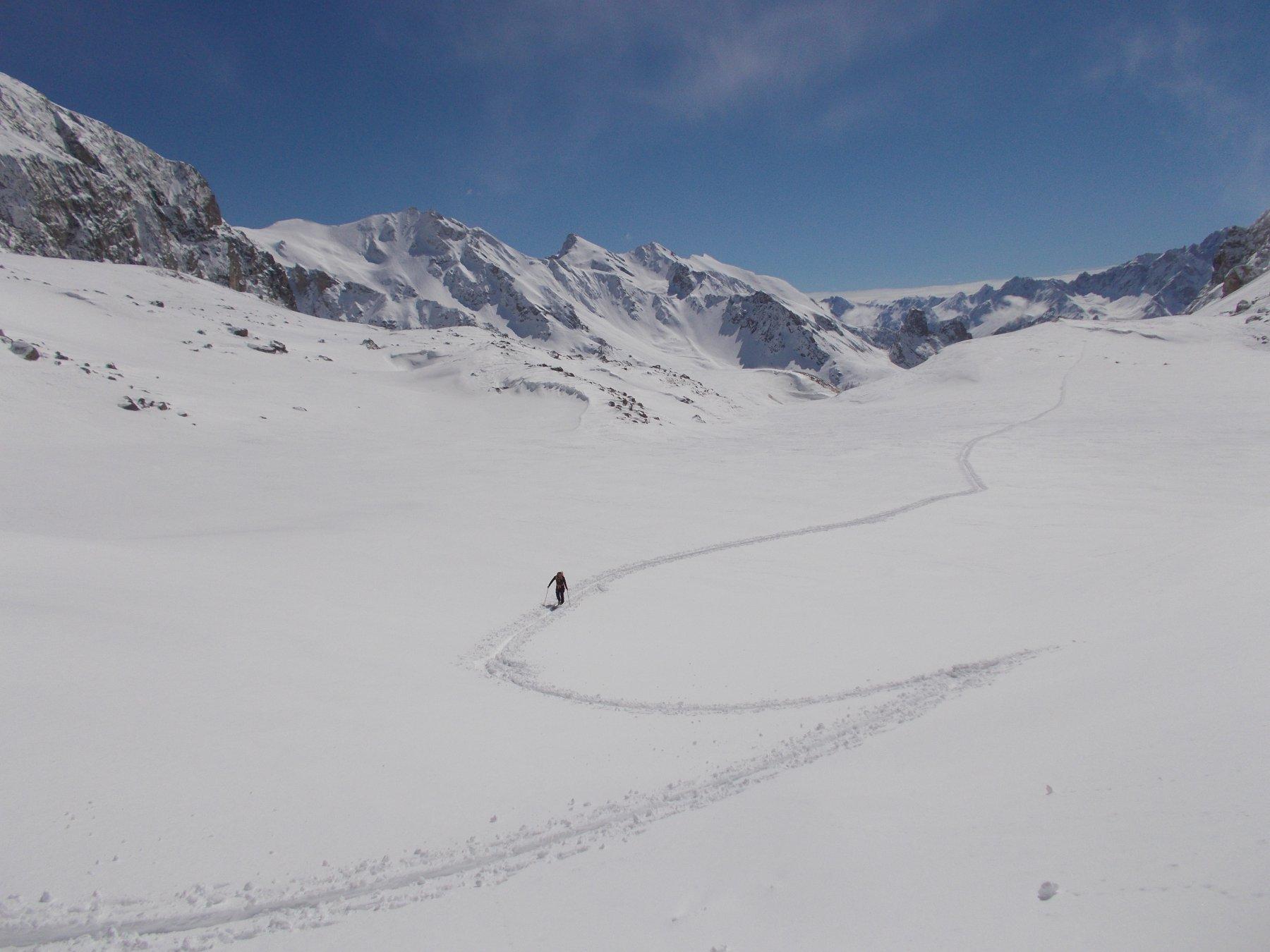 quanta neve di nuovo nella Valle del Maurin..