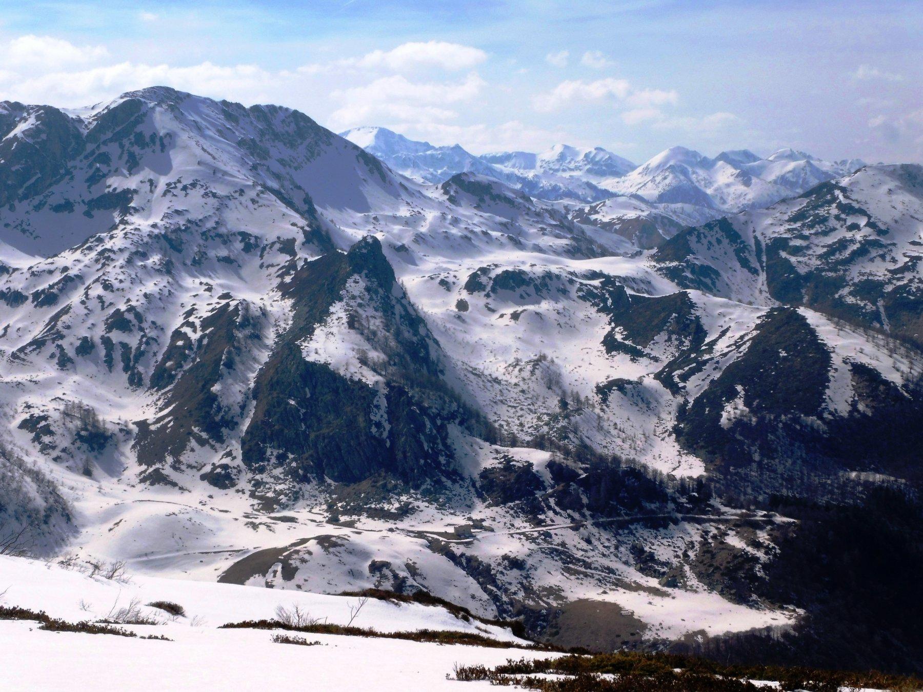 scendendo all'alpe di pietrabruna