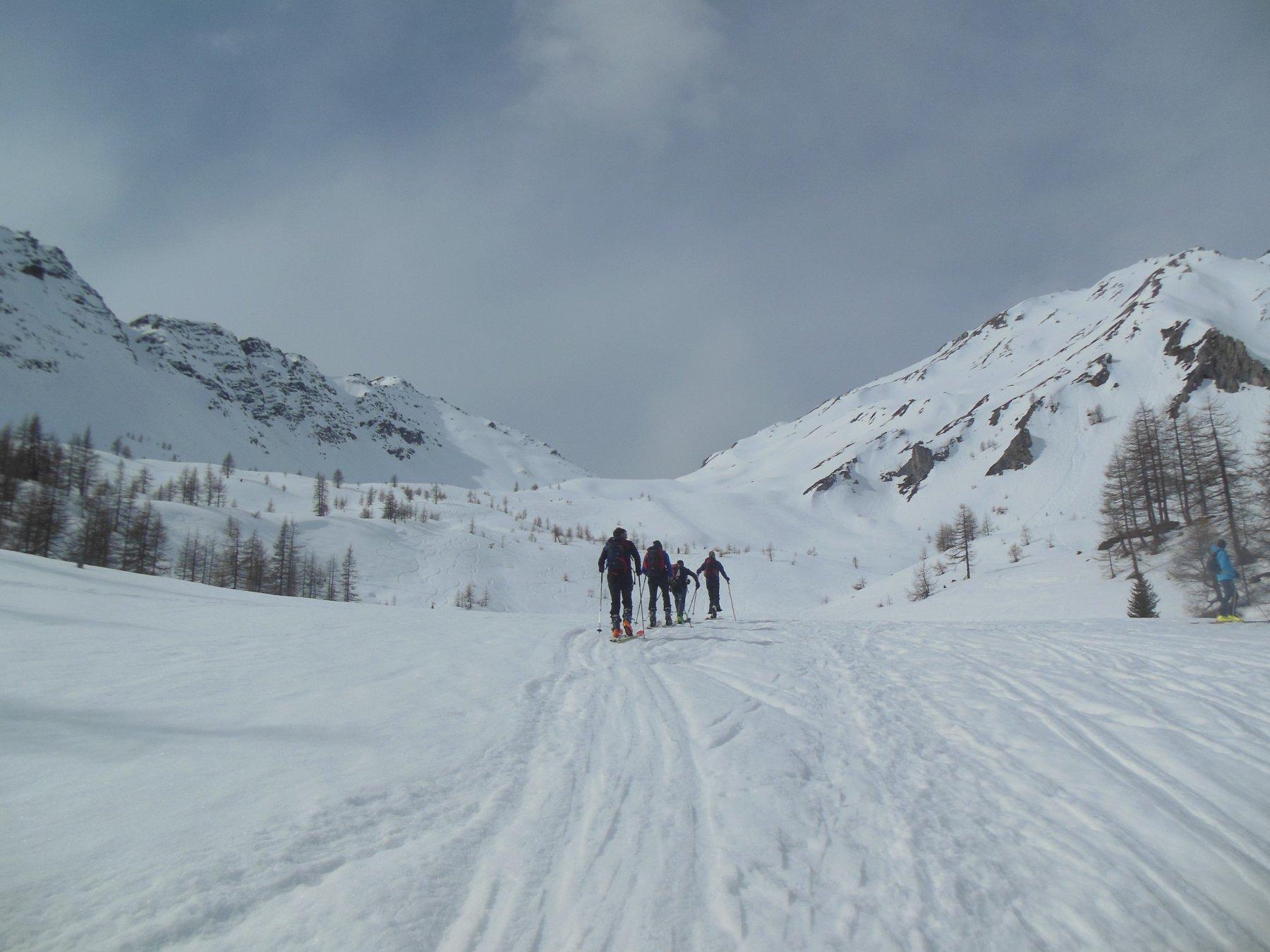 La valle superiore per arrivare al Col Serena