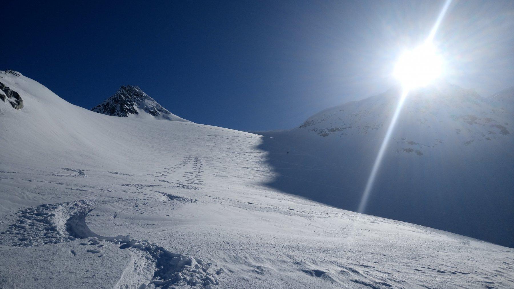 Le nostre firme sul piccolo ghiacciaio