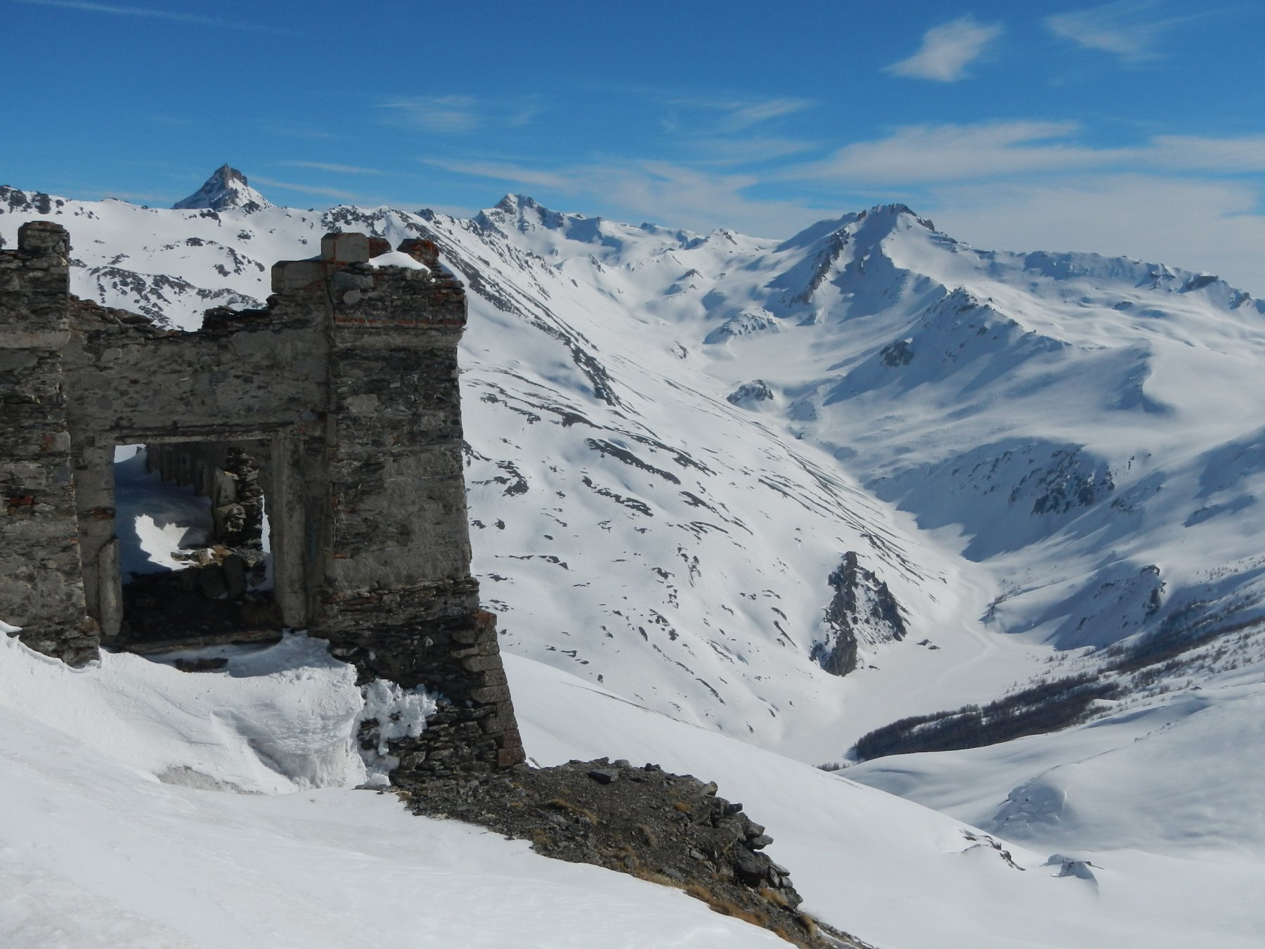 dalla cima: Rognosa D'Etiache, Sommeiller e  Cima del Vallonetto