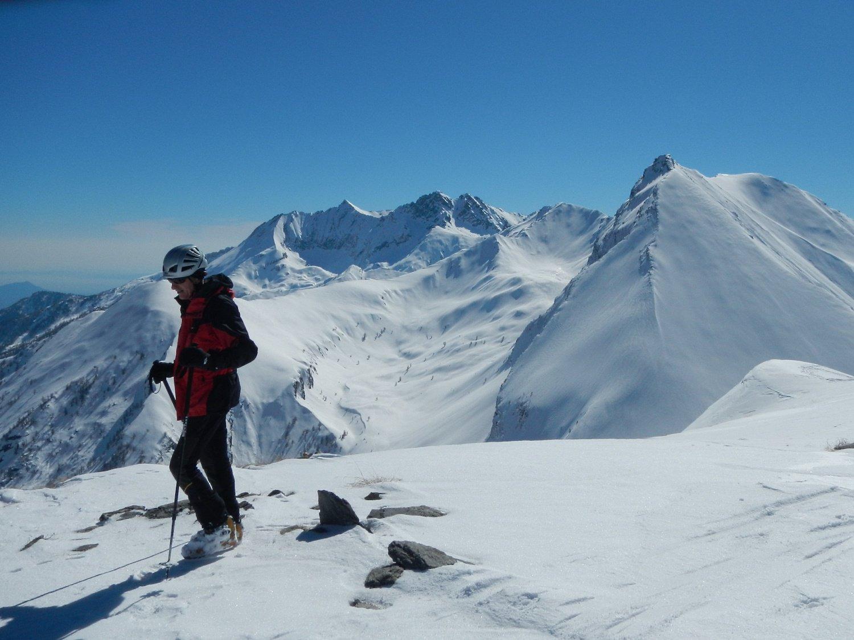 dalla cima: gran vista sul Francais Pelouxe e il Monte Orsiera