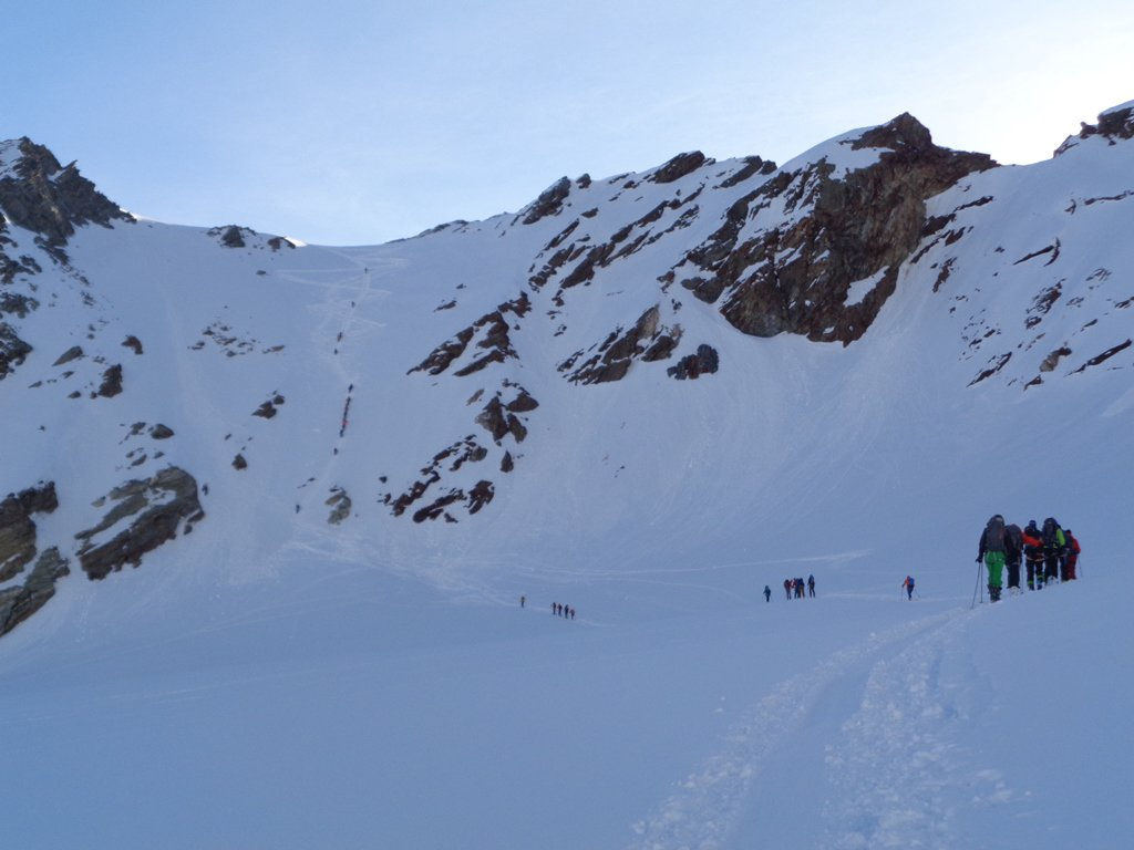salendo al col du Mont Brulè