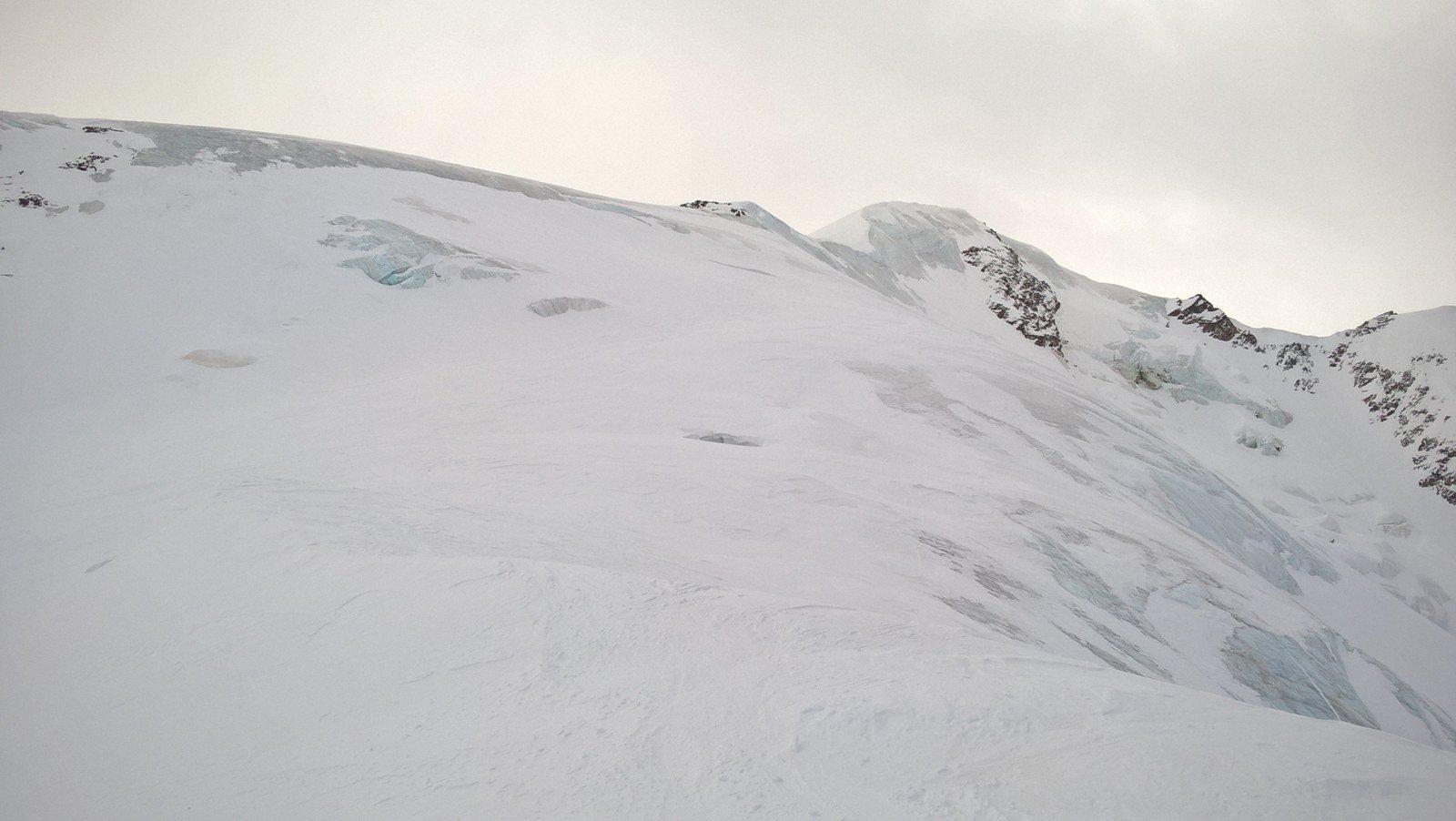 Ultimo tratto per la cima in ghiaccio