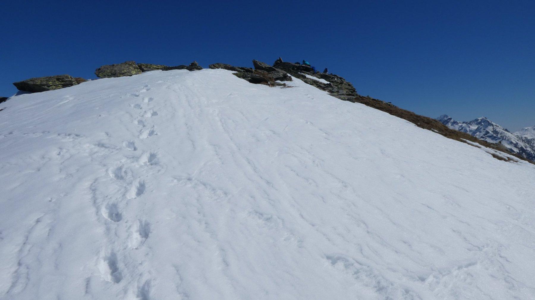 ultimi metri prima di arrivare in cima al Bieteron