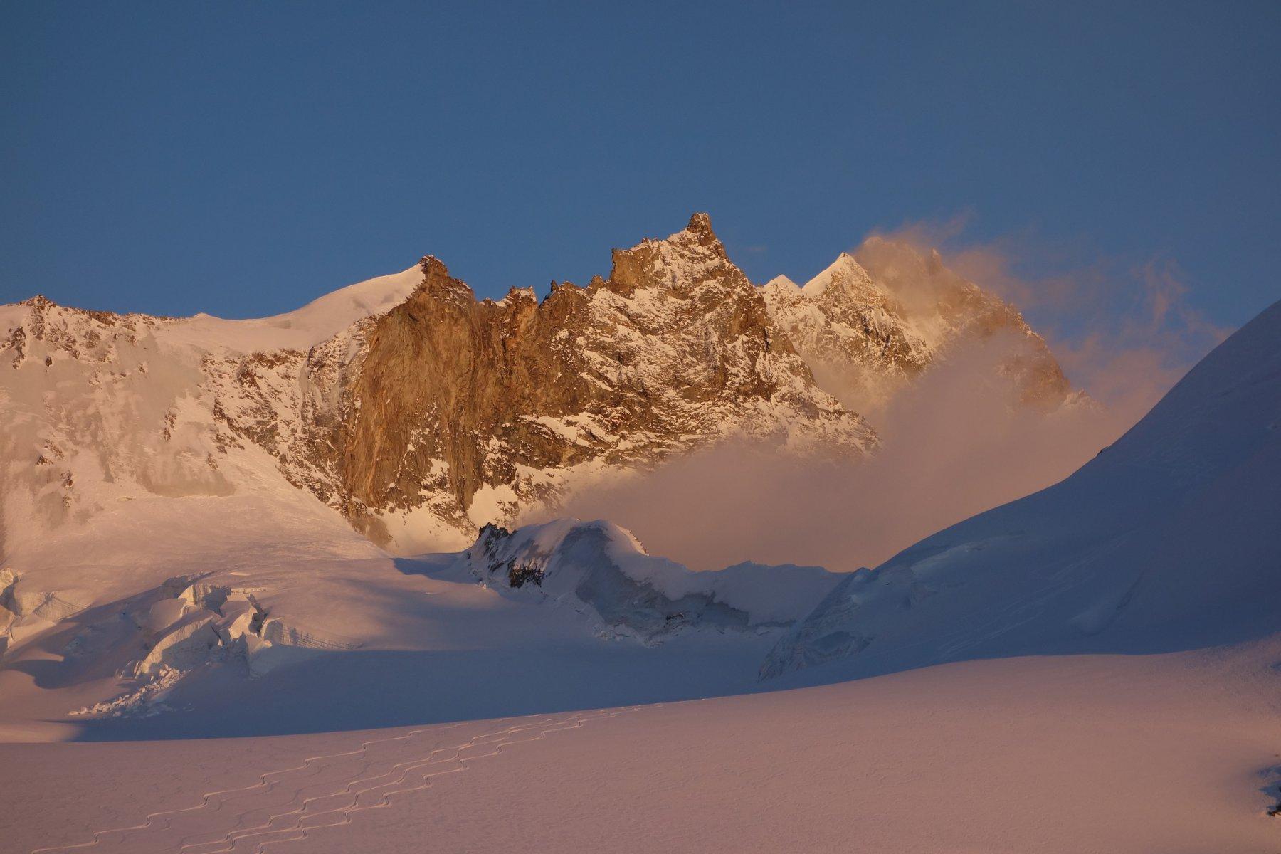 Weisshorn al tramonto