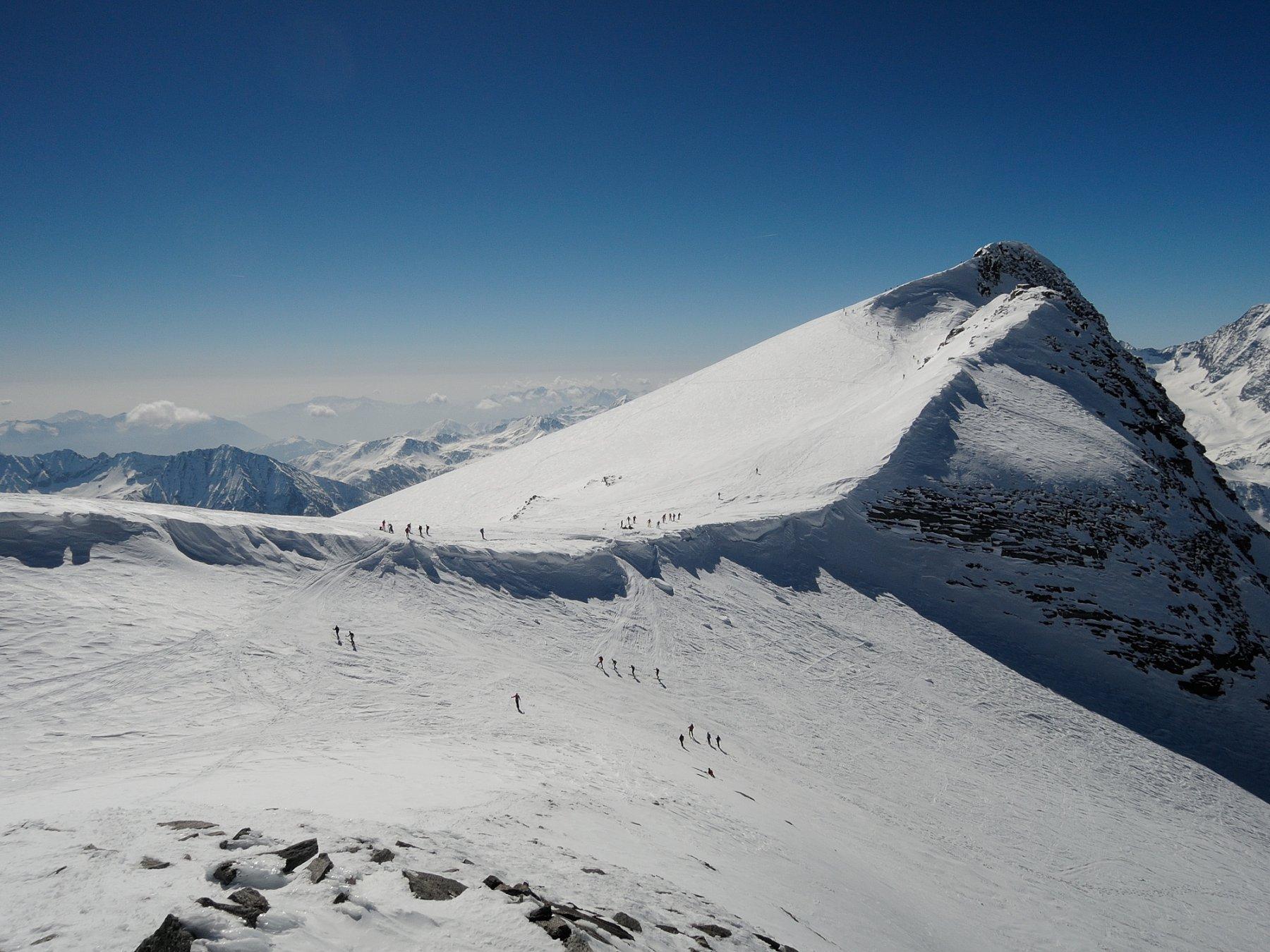 Breithorn visto dalla cima Nord