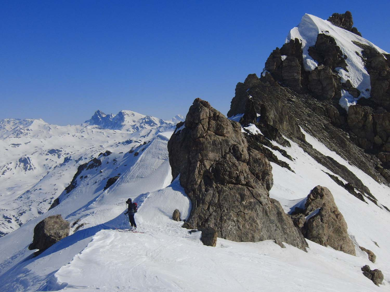 Casse Blanche (Crete de la) quota 2914 m da Fontcouverte, tour du Queyrellin 2017-04-09