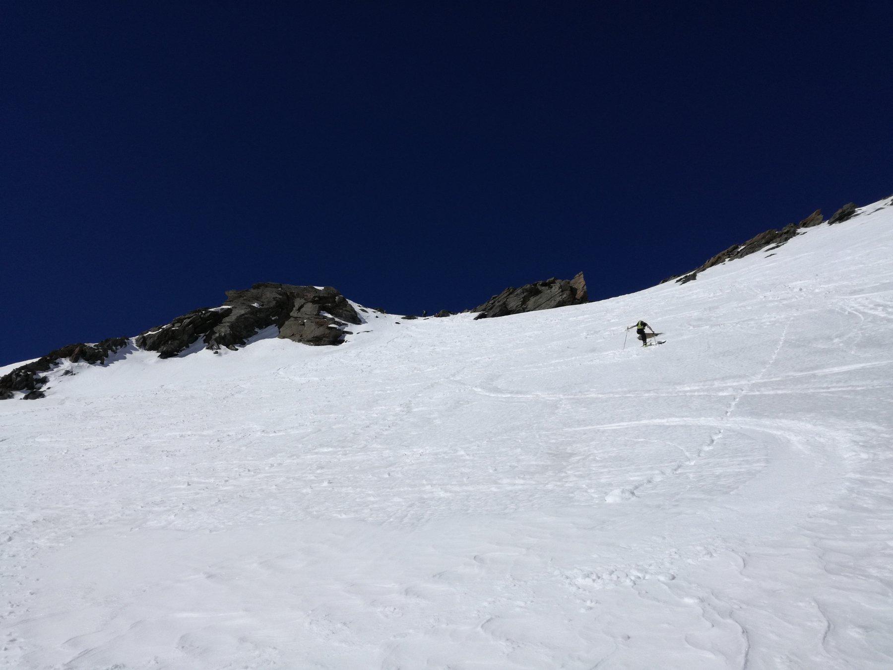 Il tratto finale prima del deposito sci