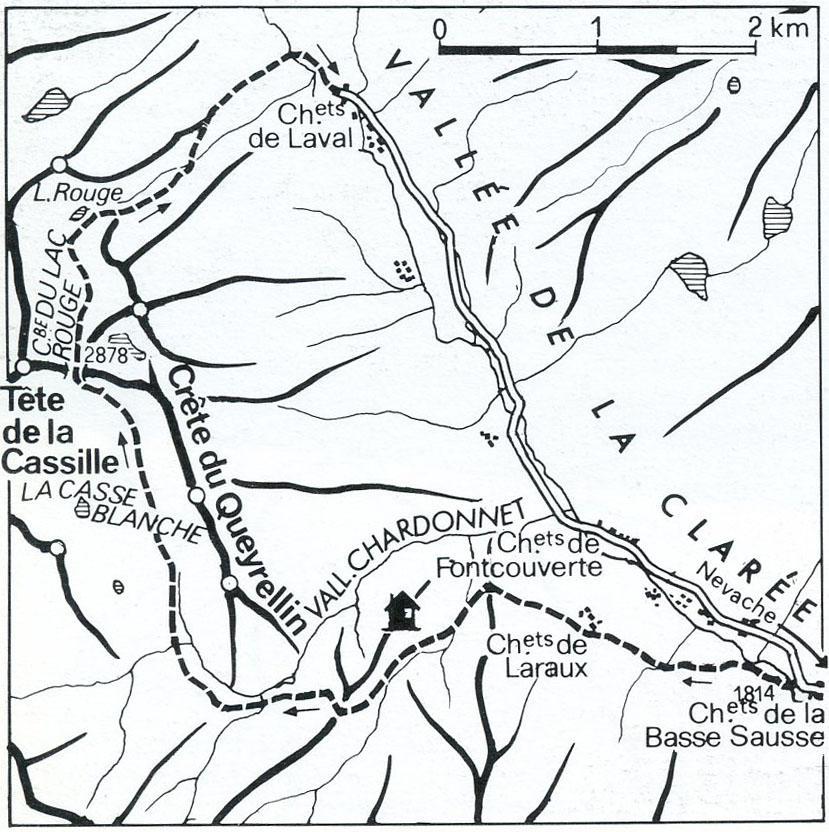 mappa itinerario da dalle marittime al vallese
