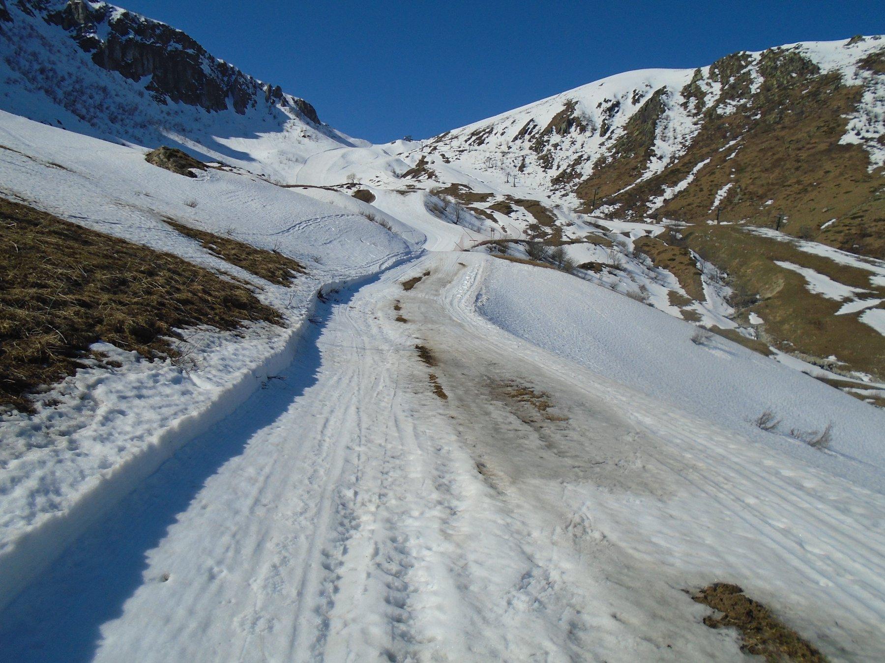 Condizioni pista verso Colla Bauzano