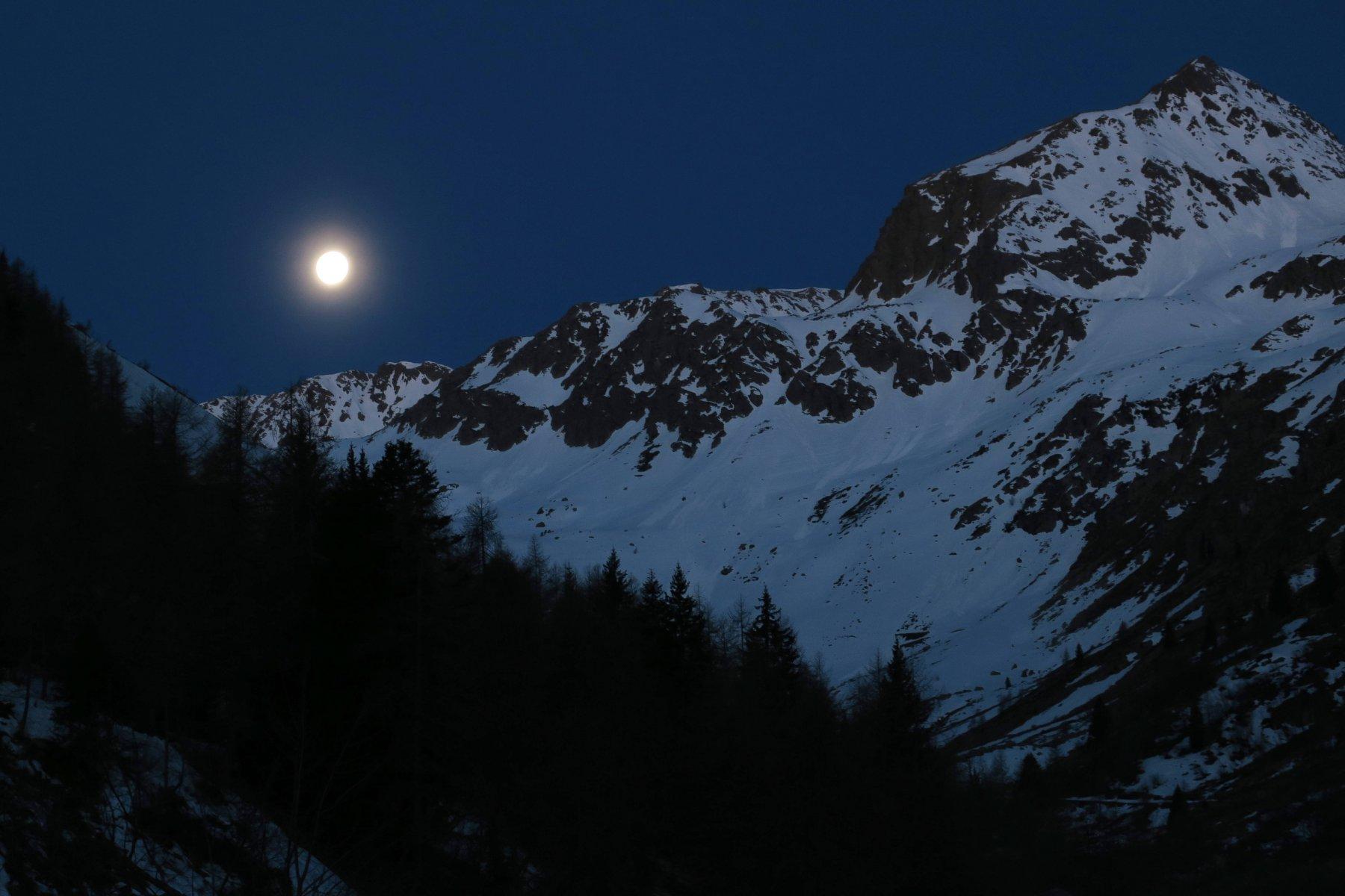 luna piena alla partenza