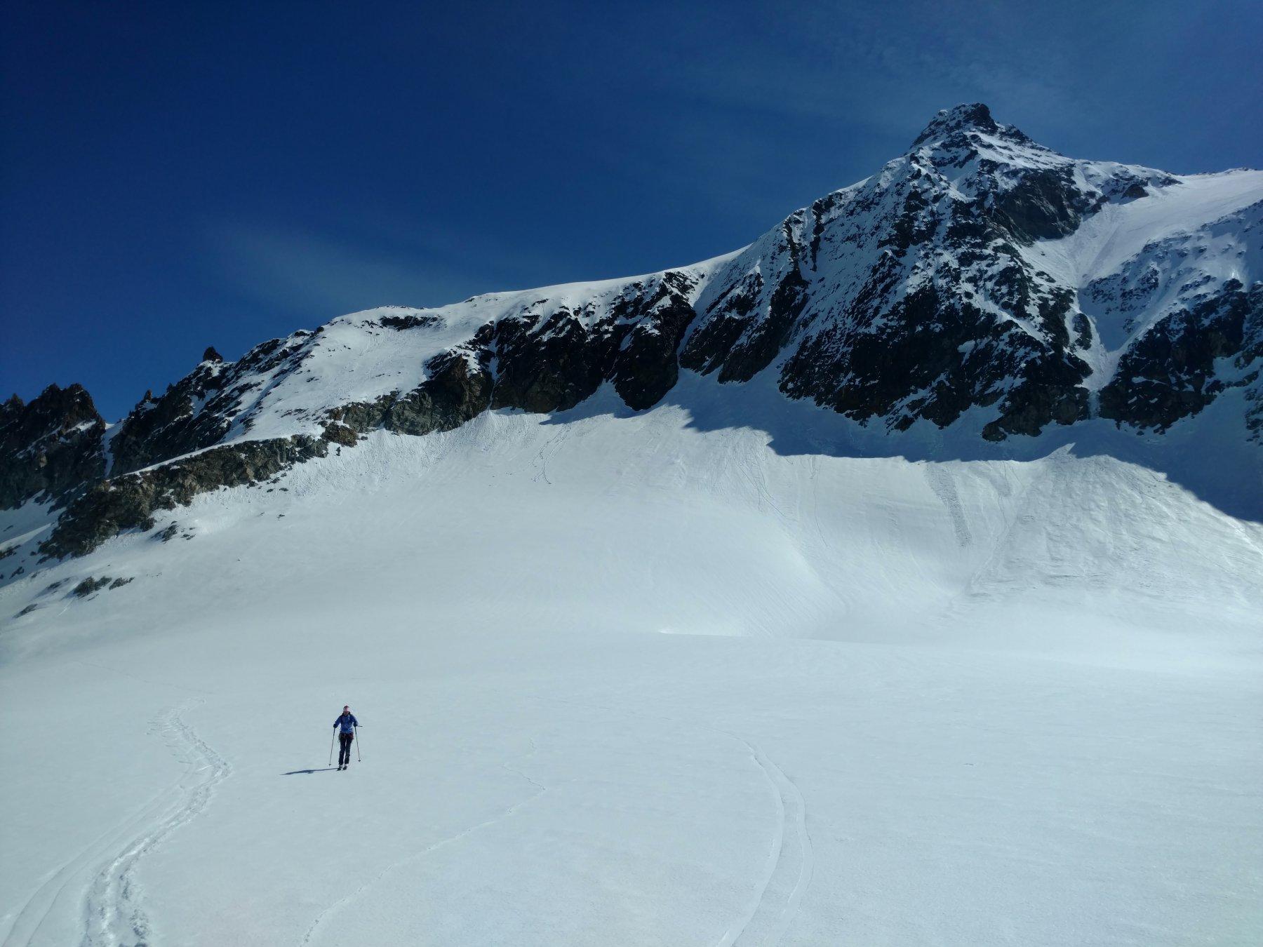 Sul ghiacciaio in risalita