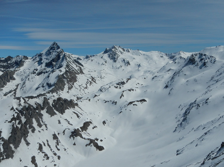 dalla cima: gran vista sulla Rognosa di Etiache e Punta Sommeiller