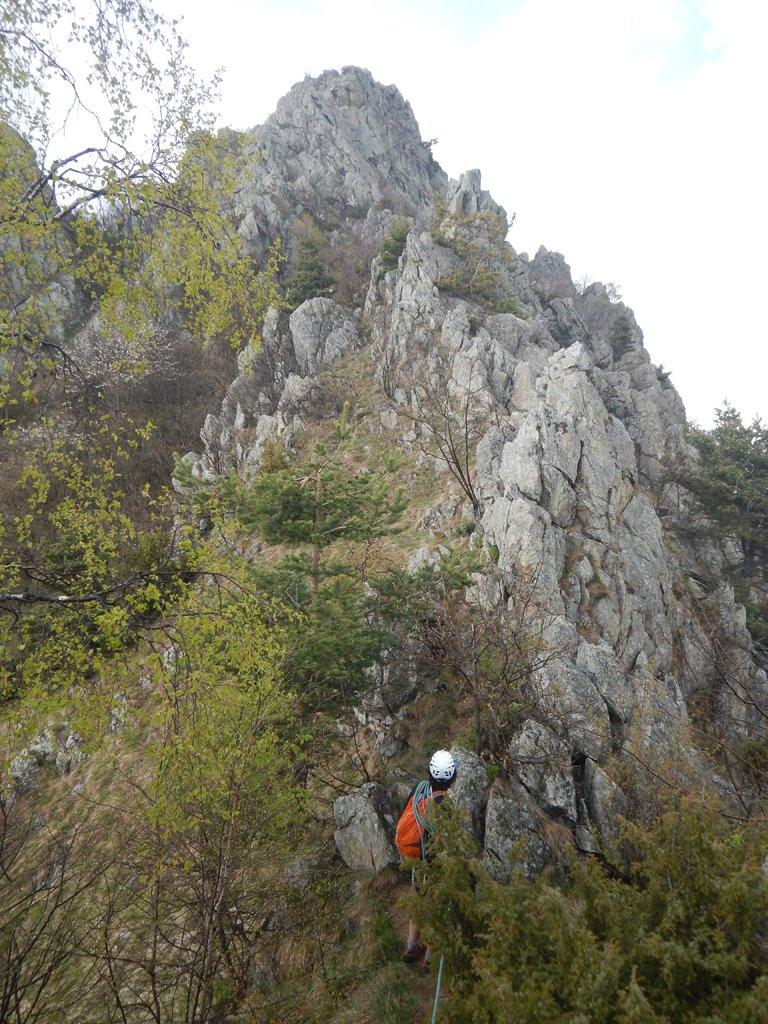 Ultima parte di sentiero verso la cima
