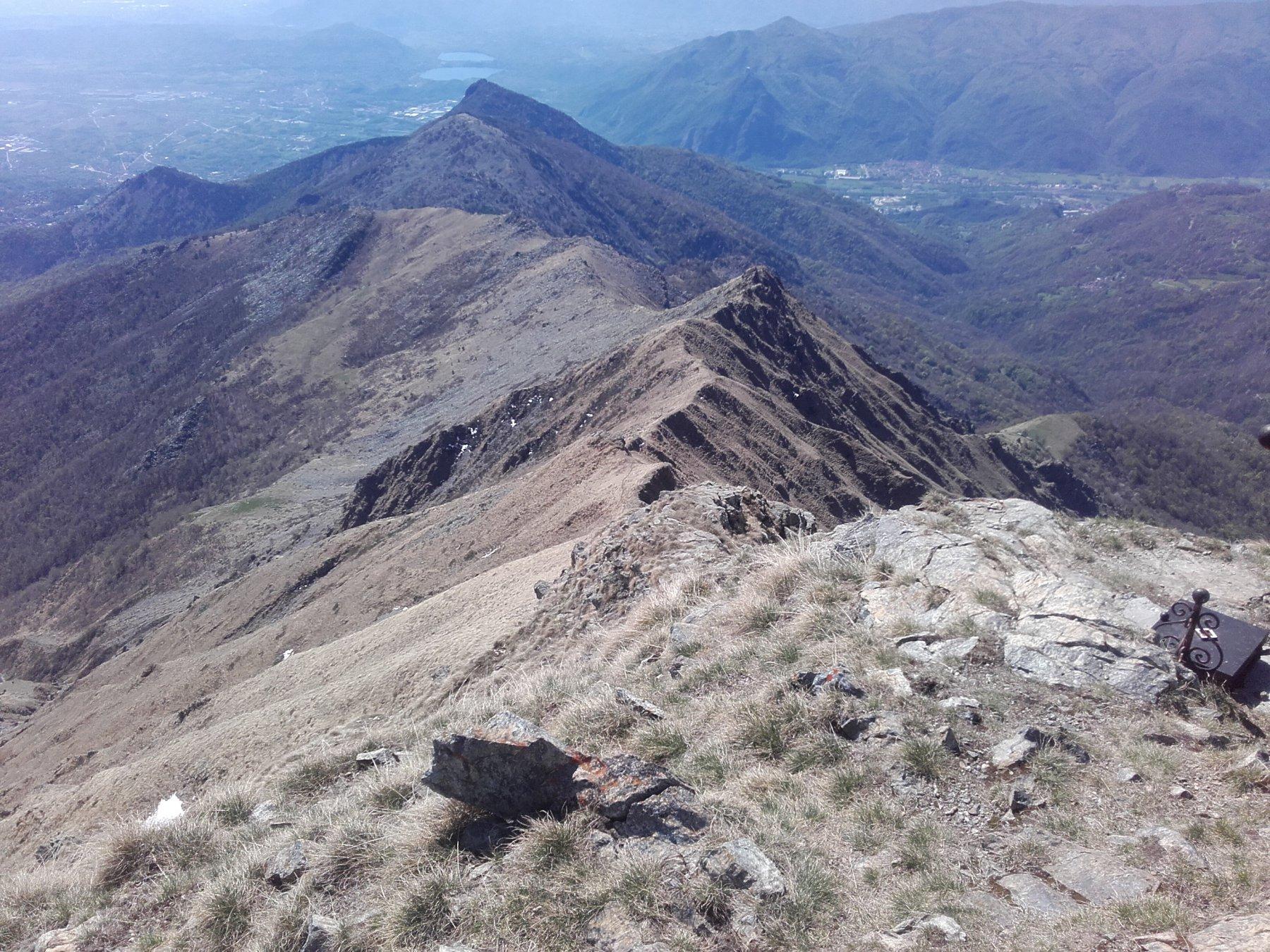 La cresta Sud del Civrari