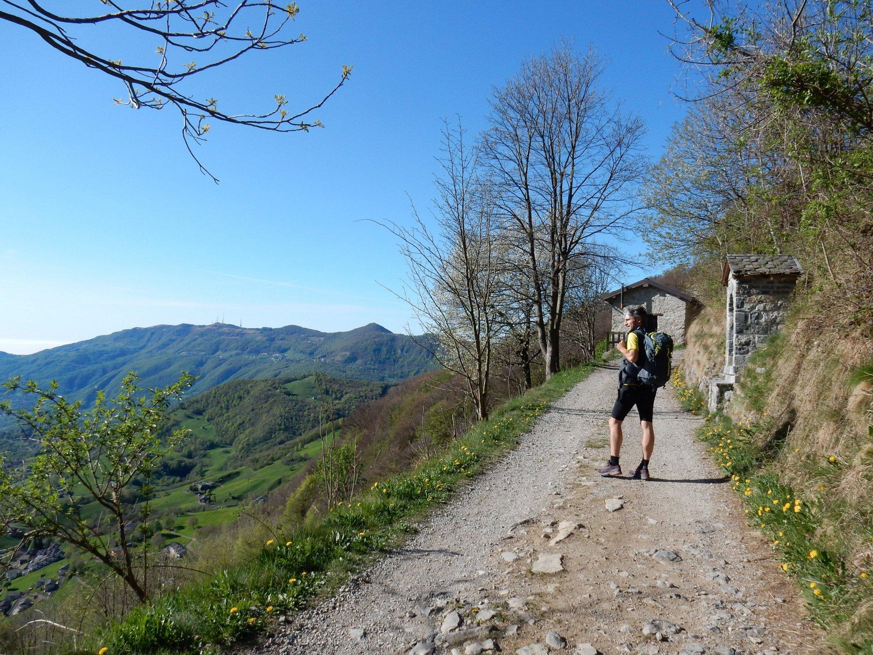 Panorama sulla Valle Imagna.