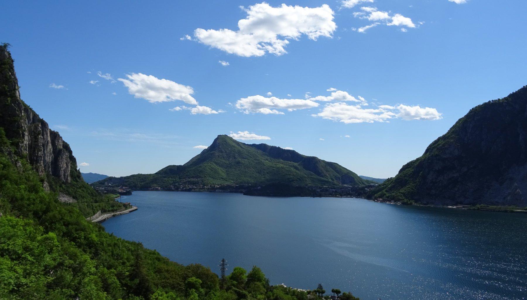 Panorama sul lago dalle soste di PUNGITOPO