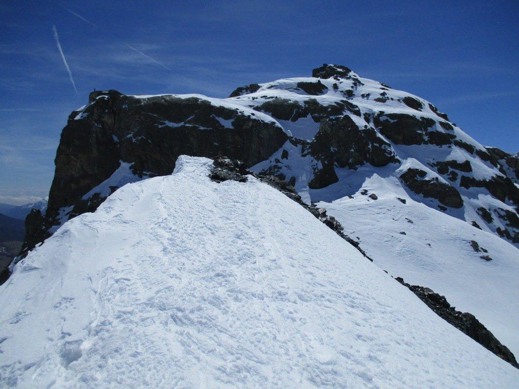 la cima dalla cresta NW