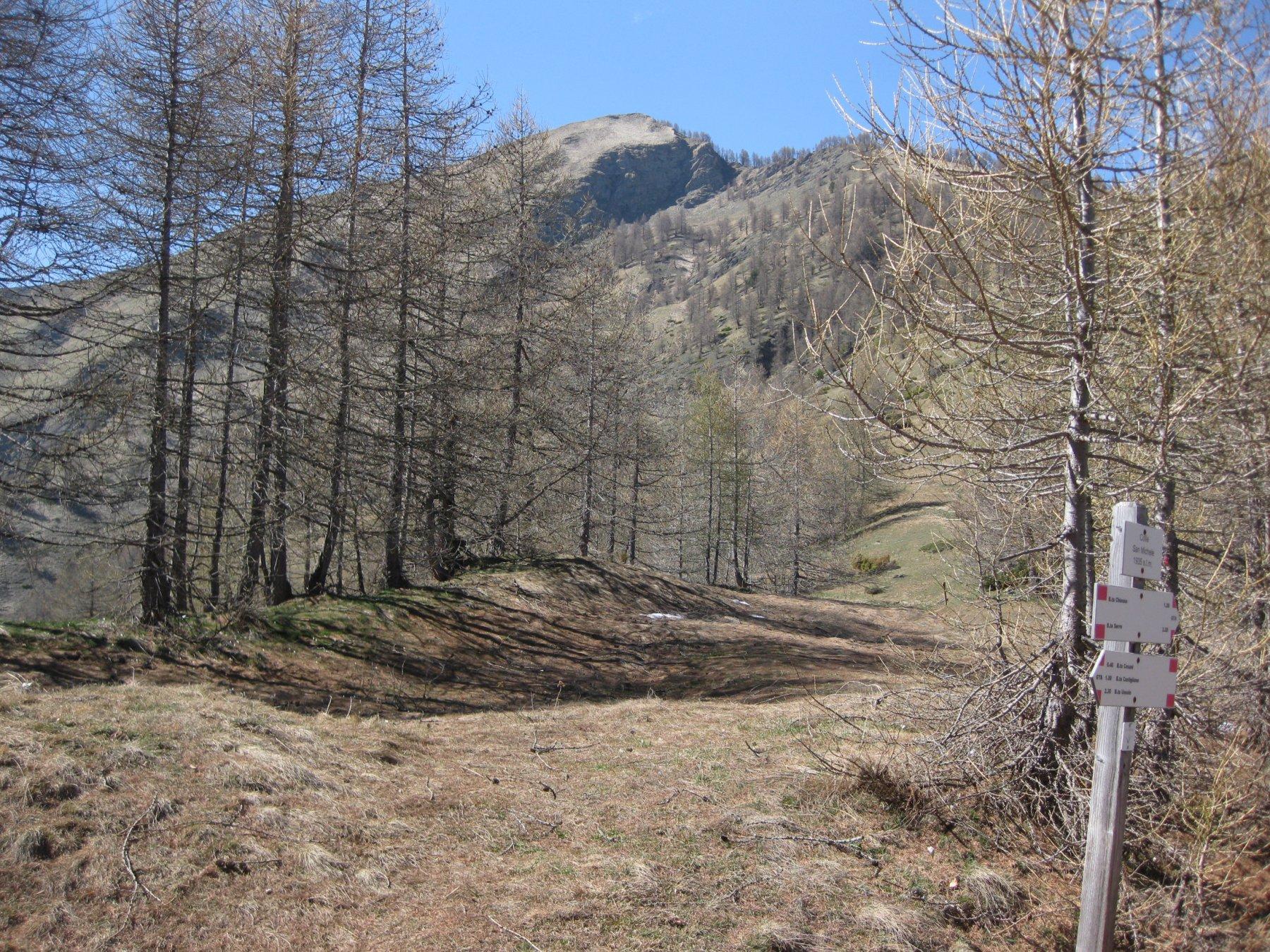 Colle San Michele....sullo sfondo la Ciarmetta