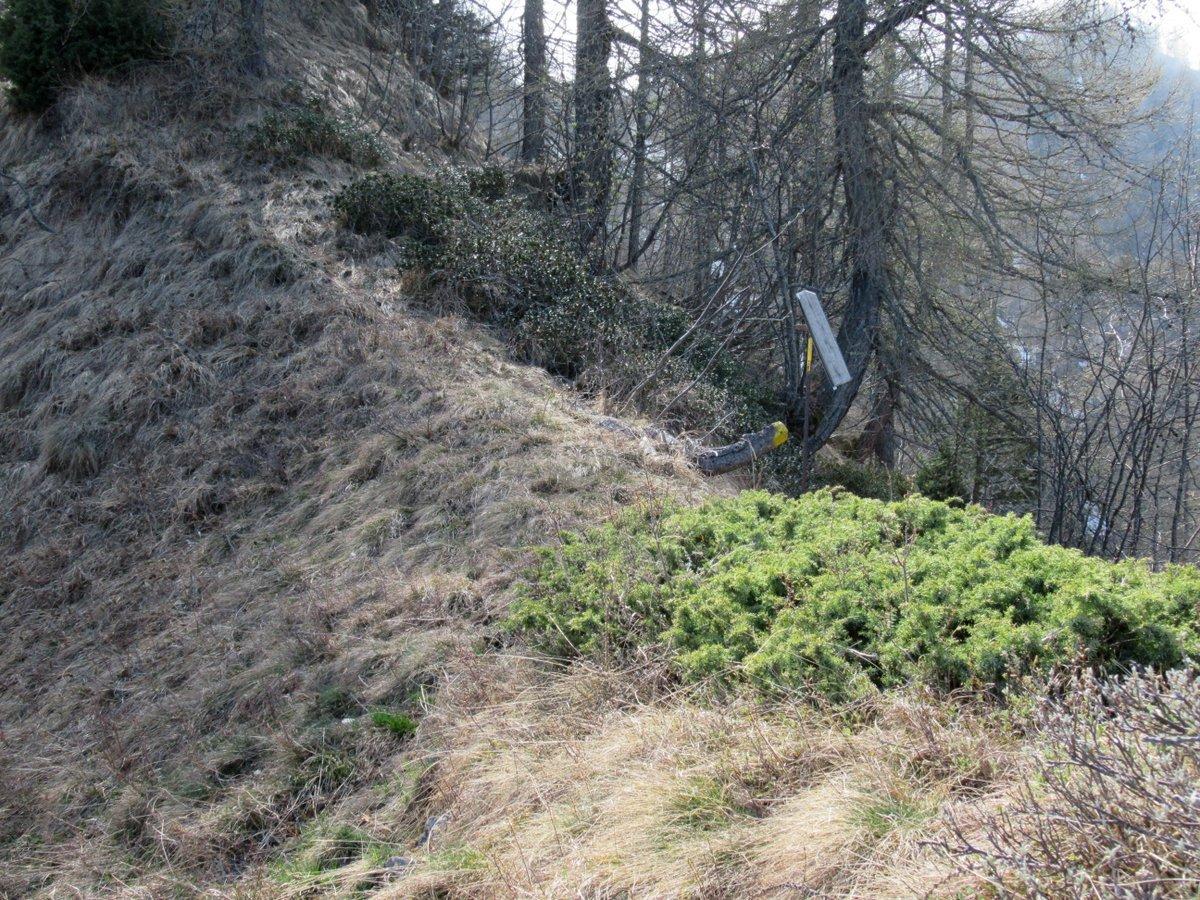 Colon (Testa) o Pointe de Bechetda Issogne per l'Alpe la Borney e la cresta NE, anello 2017-04-17
