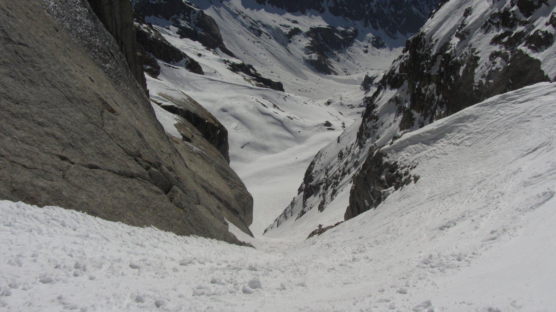 Il canale che dà accesso al ghiaccio superiore