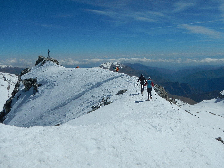 verso la cima di quota 3065 m.
