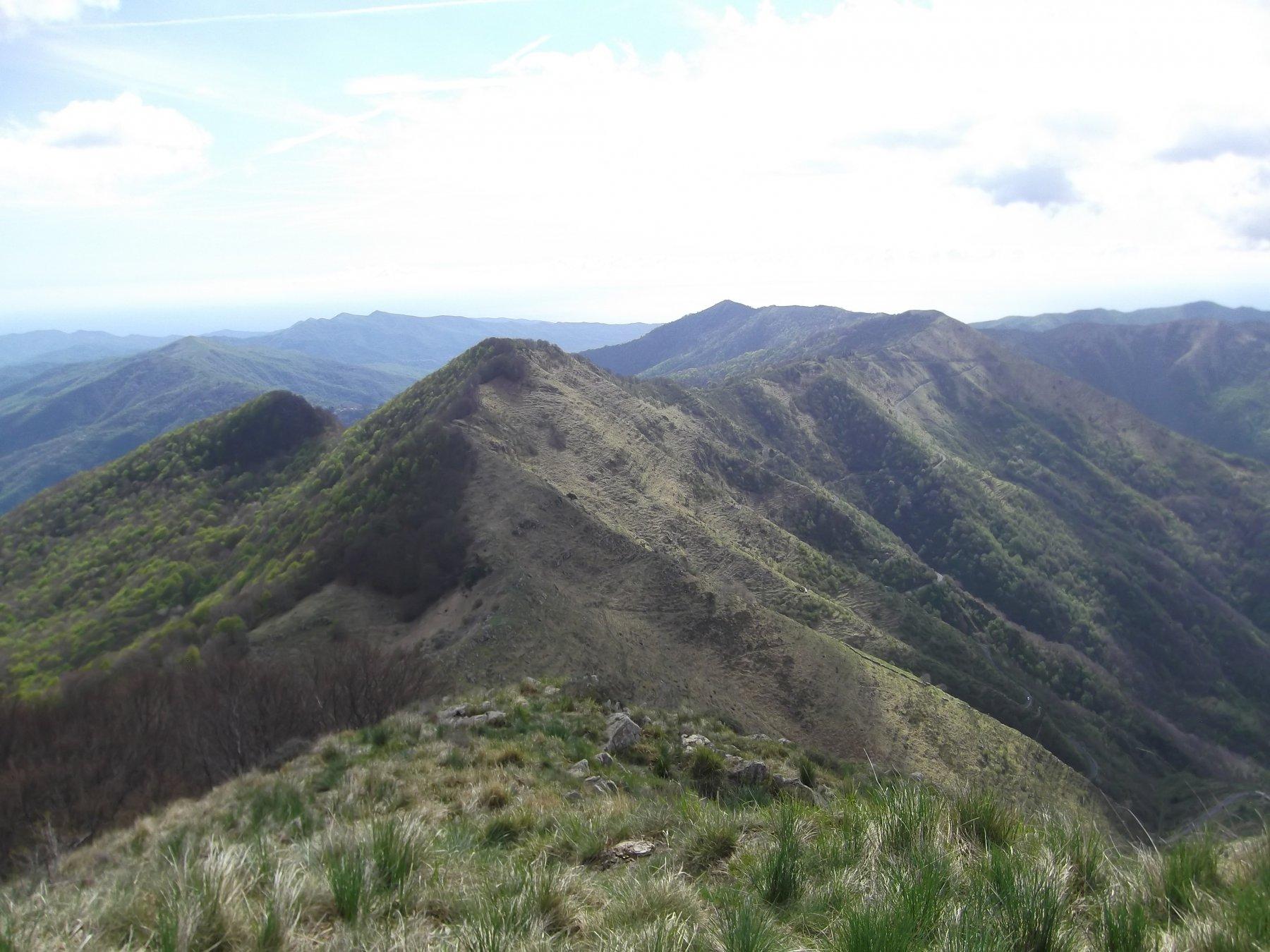 La cresta percorsa dal Carmo di Brocchi.