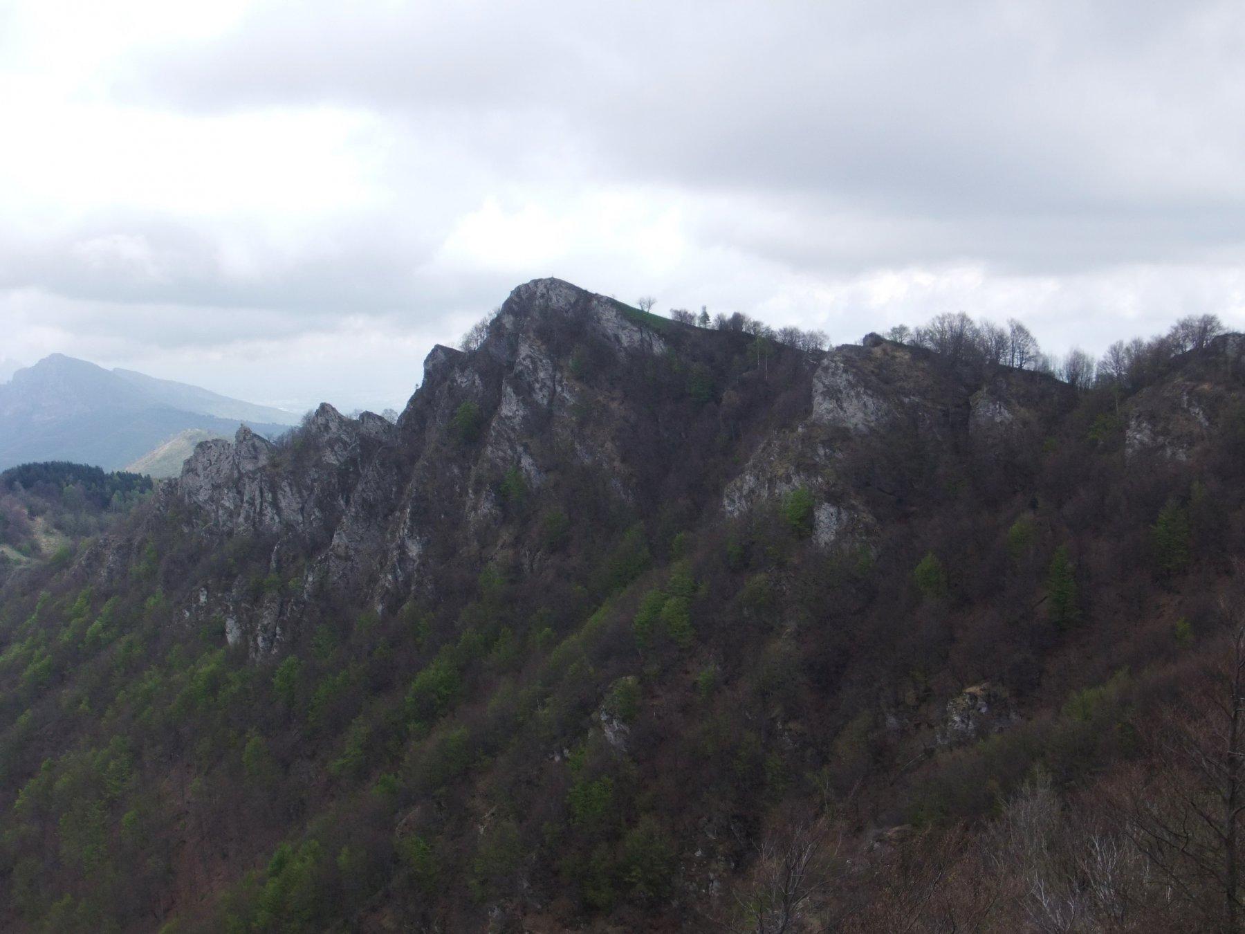 La Rocca Tramontina dalla cima sud della Rocca delle Penne