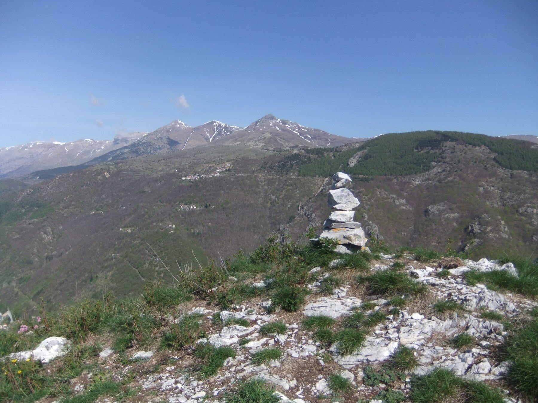 In vetta alla Rocca Ferraira