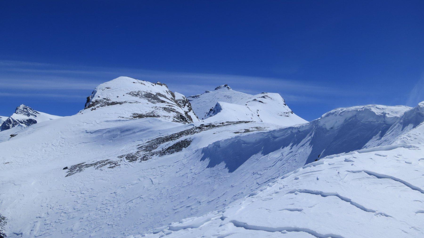 lo stato della cresta verso la cime del Furggen