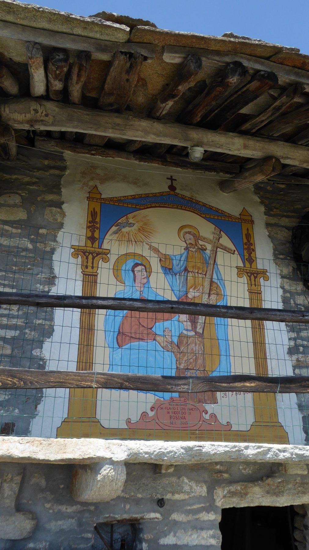 Dipinto su casa della Famiglia Ughetti, ad Avranco superiore
