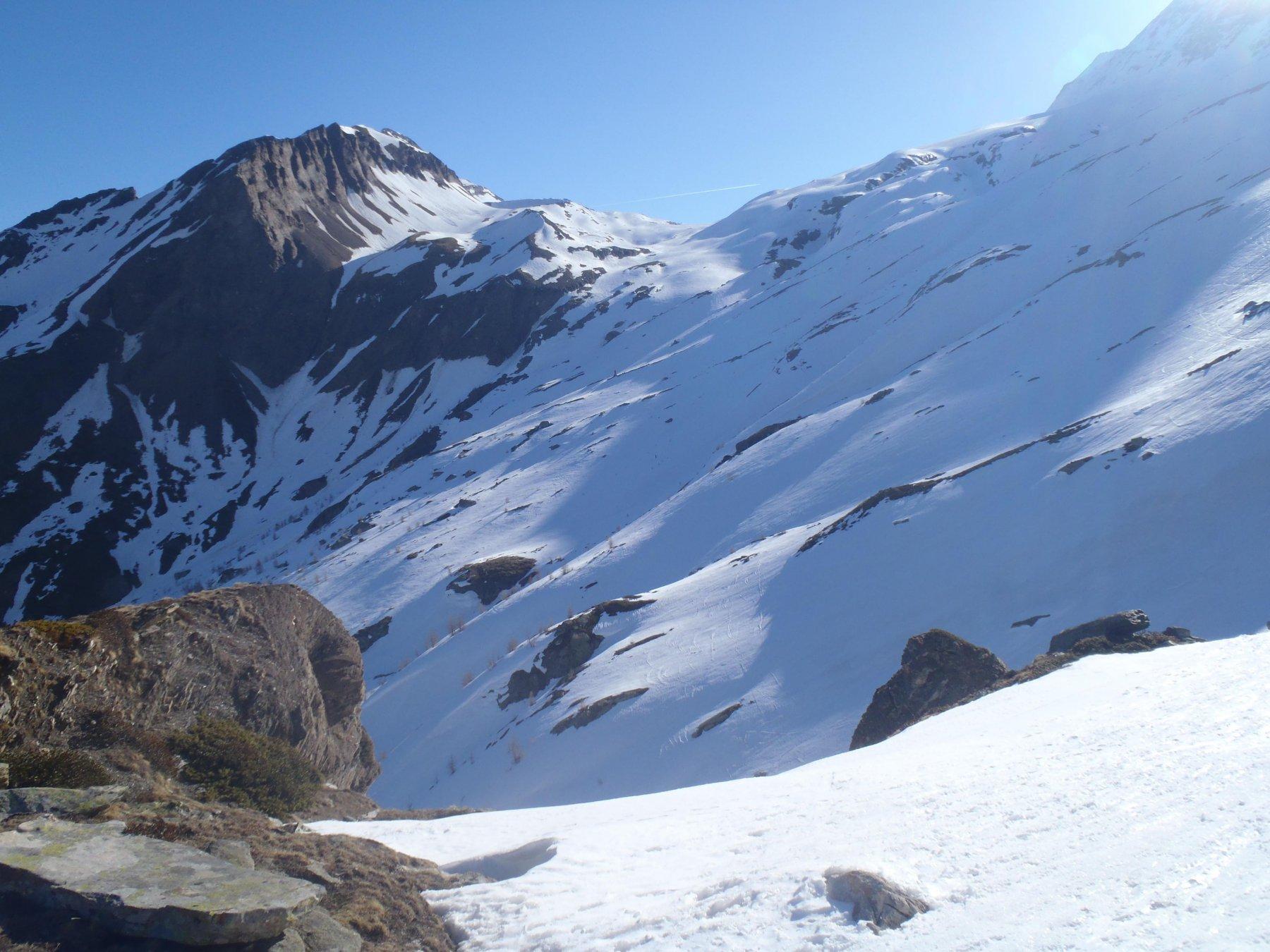 Situazione neve verso il Terrarossa