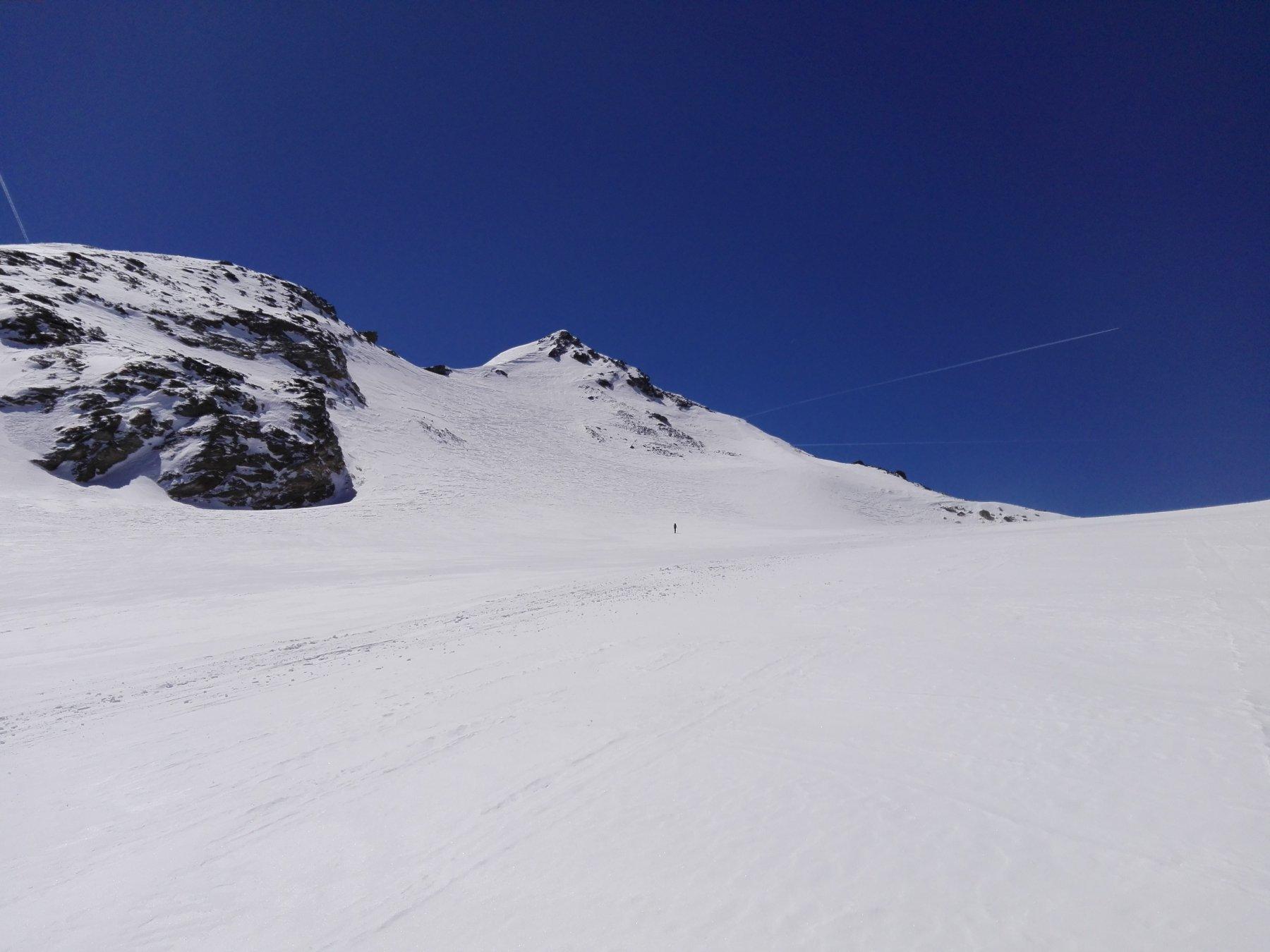 Pendio finale sul ghiacciaio