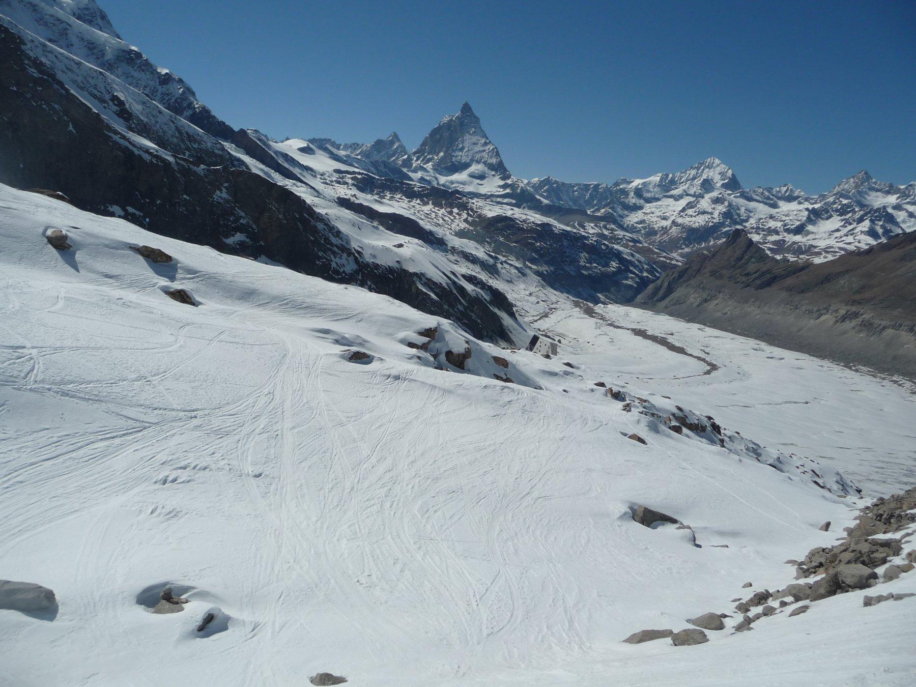 Monte Rosa Hutte in vista :)