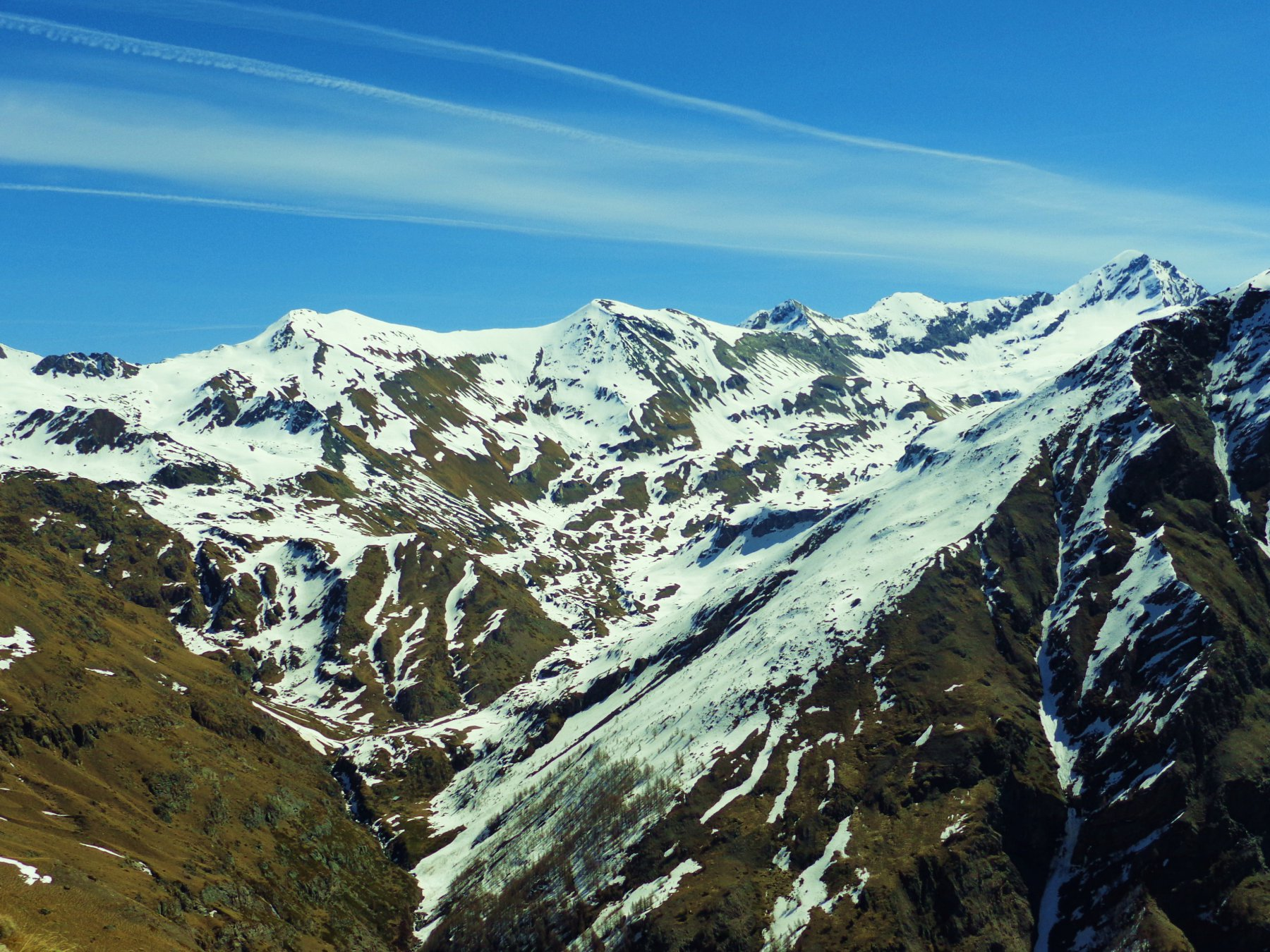Vallone del Grauson con Punta Laval, Gianni Vert, Tessonet e Tersiva