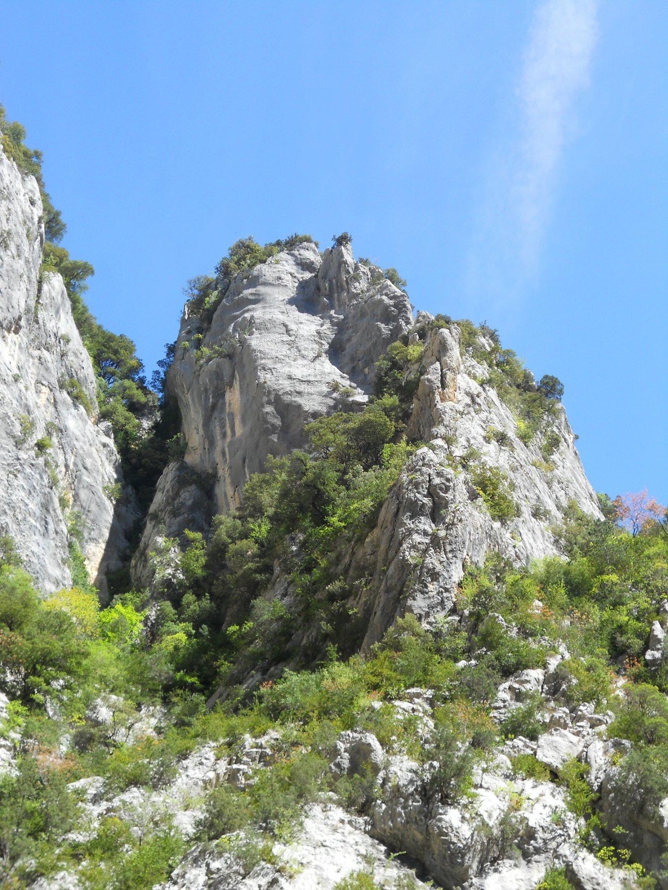 La cresta dell'Herbetto vista dal fiume