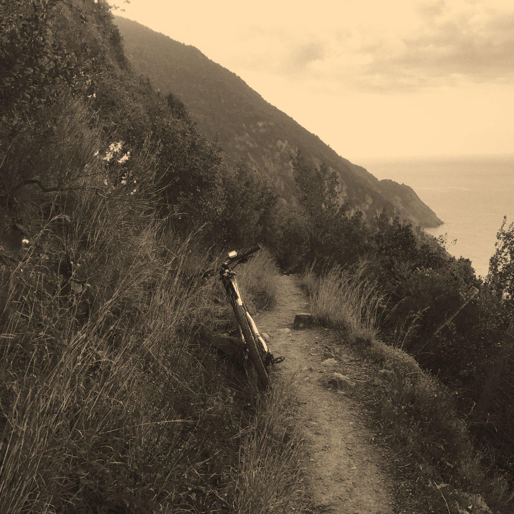 tratto scorrevole dei sentieri d ipunta Mesco