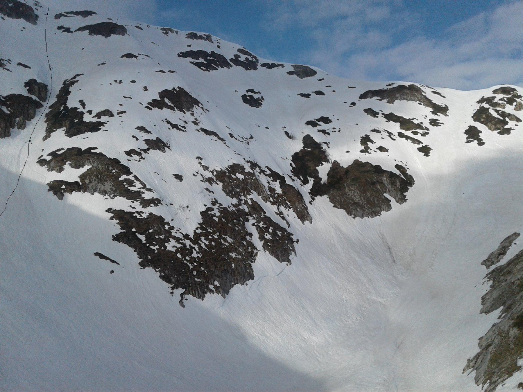 All'uscita del canale dei torrioni, a sx si vede il canale di Fedelippogor