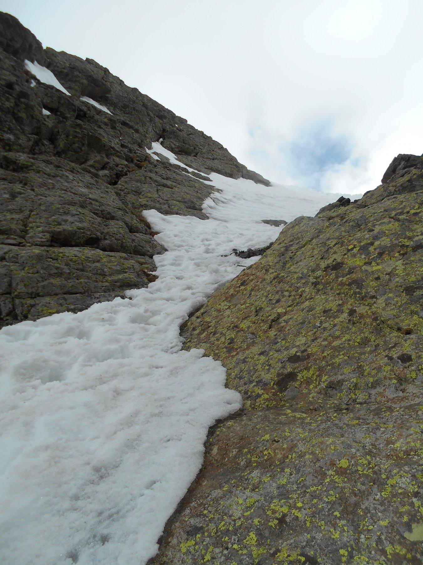 Corborant canale Sud ultimi metri roccia e ghiaccio