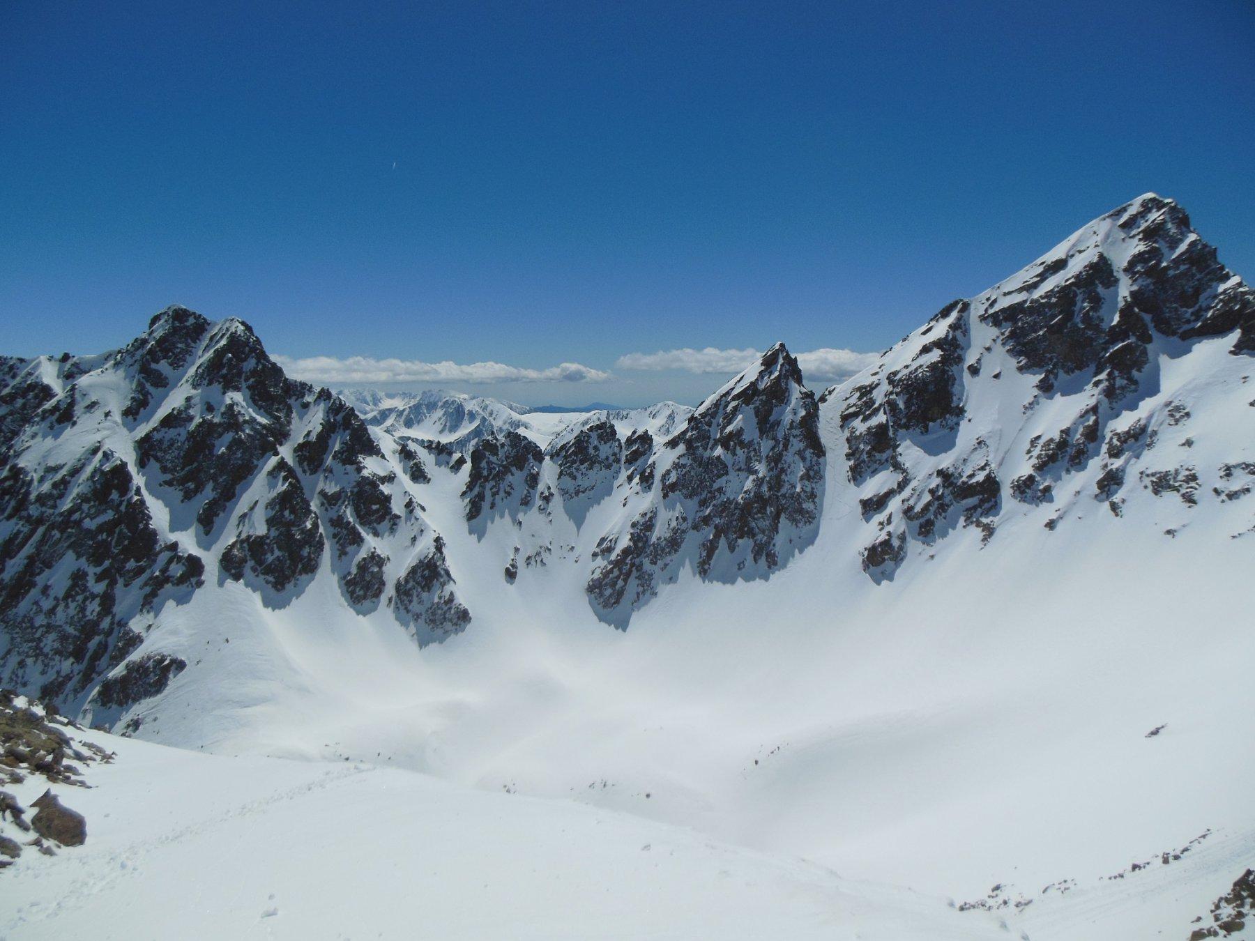 La Gioffredo ed il Corborant dalla cima sud d'Ischiator