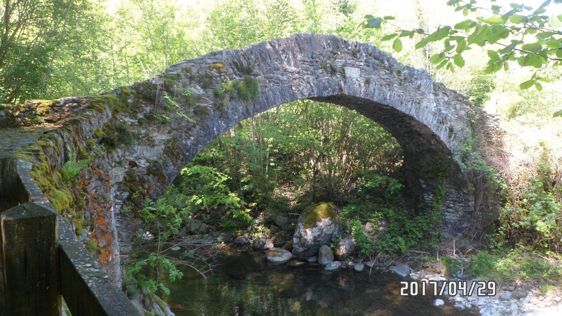 Ponte tra Mezzenile e Pessinetto. Anno 1741