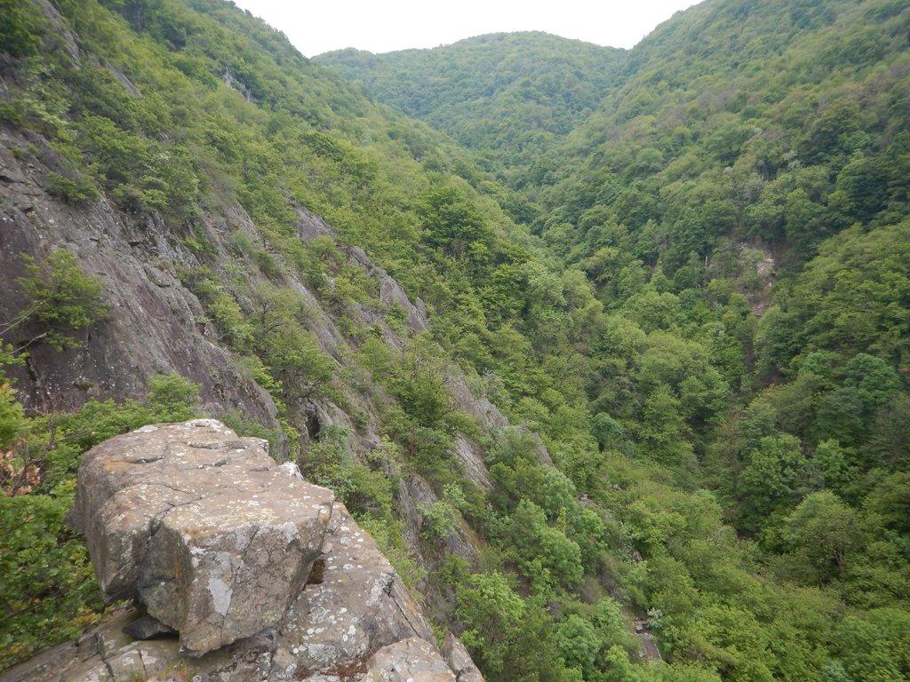 Vista sulla valletta del Rio Pracchio
