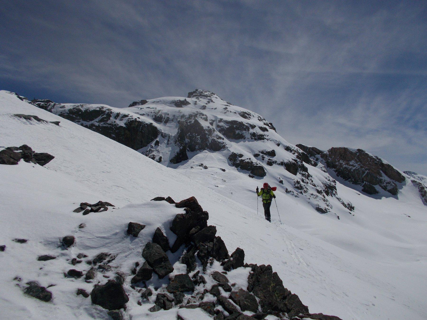 dalla Rocca Bianca per cresta ..verso il Col di San Veran..