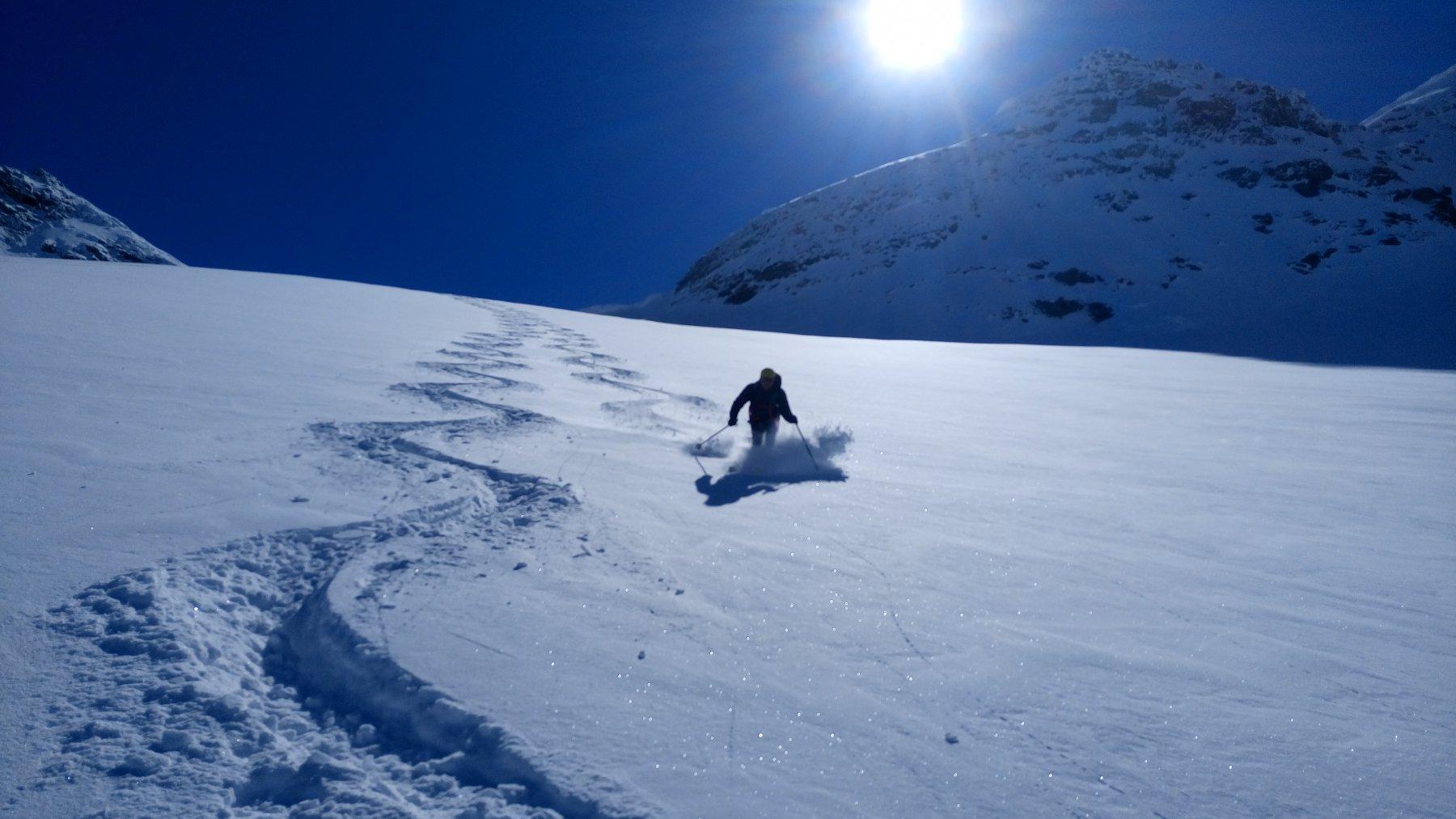 Sul ghiacciaio Fulvio spettacolo