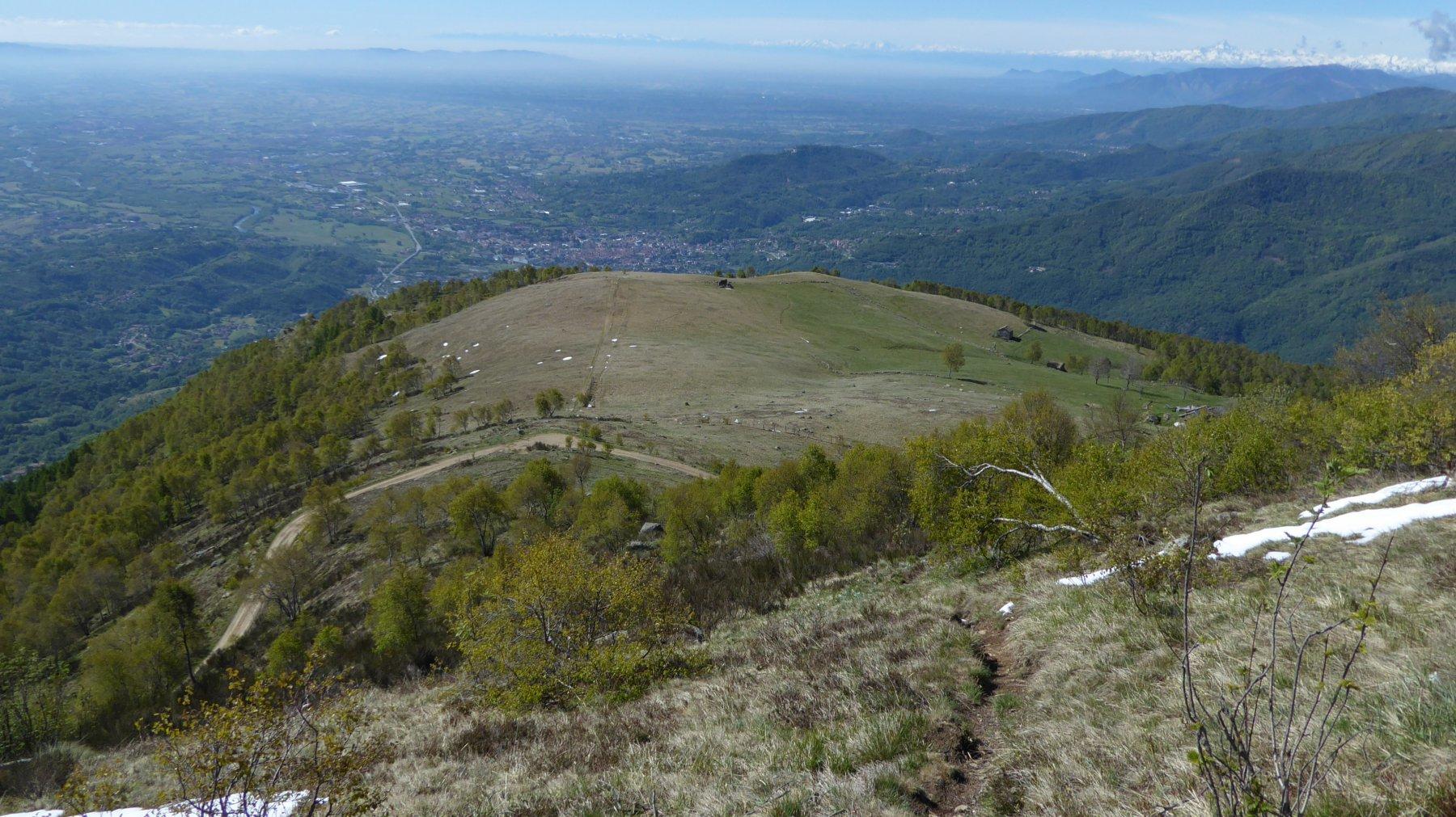 Vista dall'alto su Pian Confier